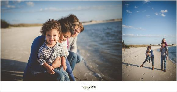 windy beach photography session