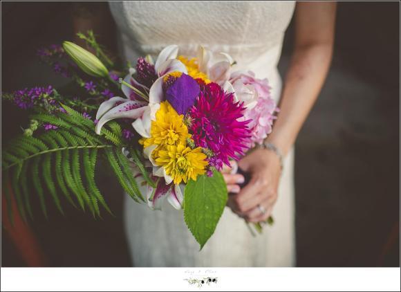 farmers market wedding bouquet