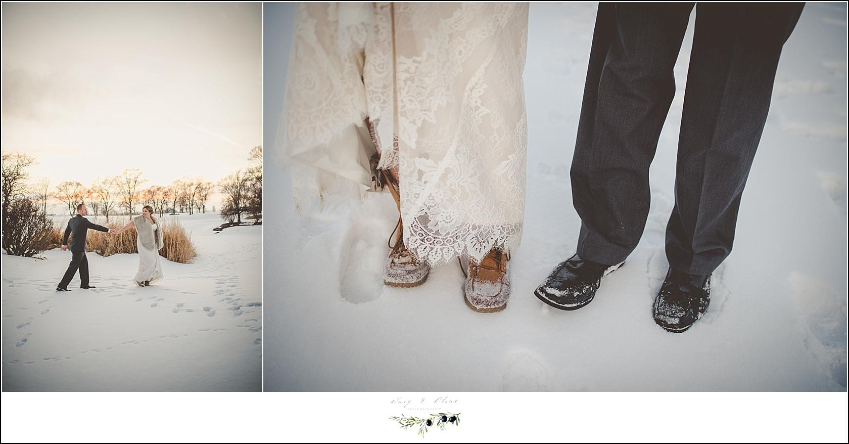 wisconsin winter wedding shoes