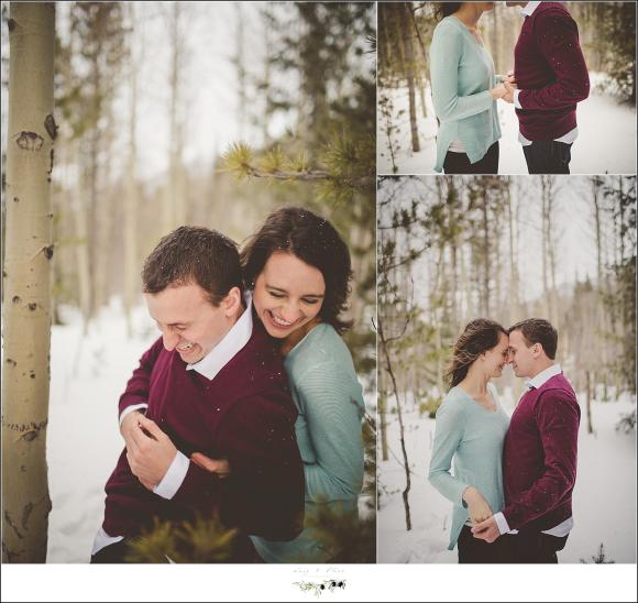 snuggles on the engagement session