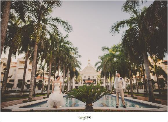 riu palace wedding portrait