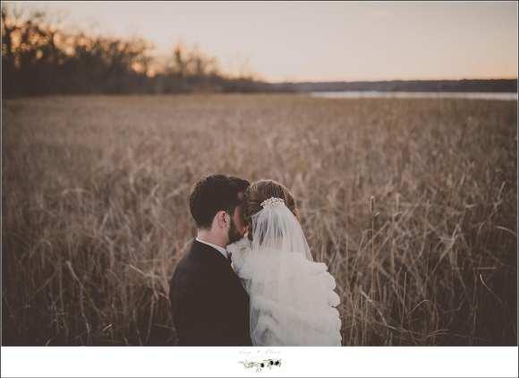 winter wedding portrait