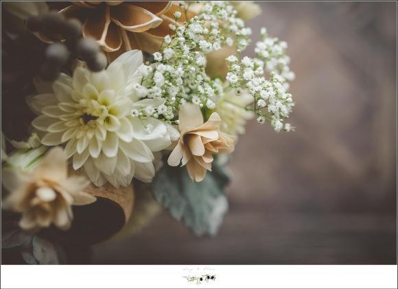 white and cream florals