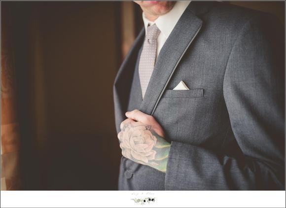 tattooed groom