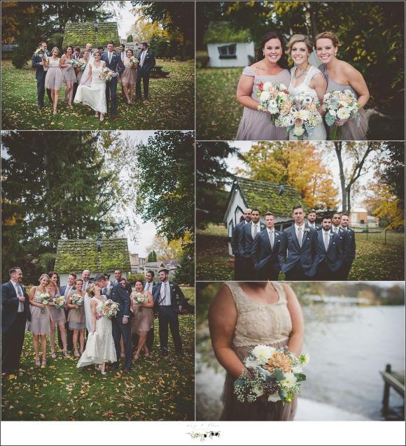 creative wedding party shots