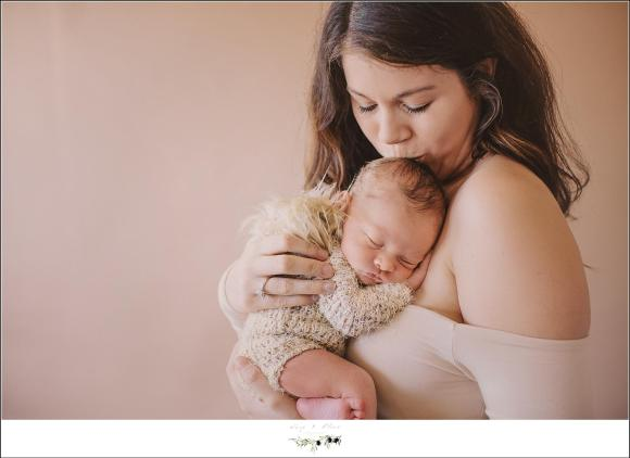 Mother Son Newborn Photopraphy