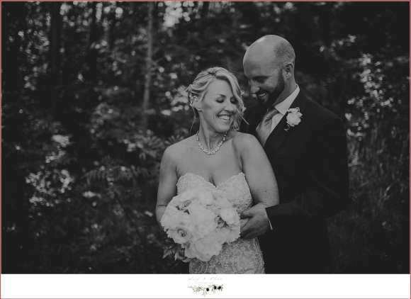 black and white wedding post processing