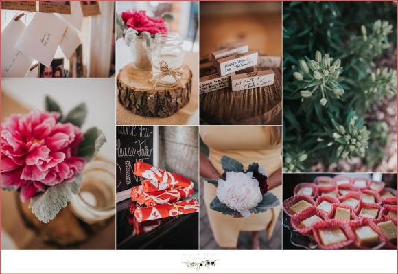 reception details for rustic wedding