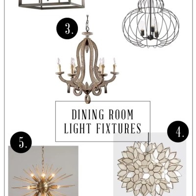 Modern Farmhouse Light Fixtures for the Dining Room