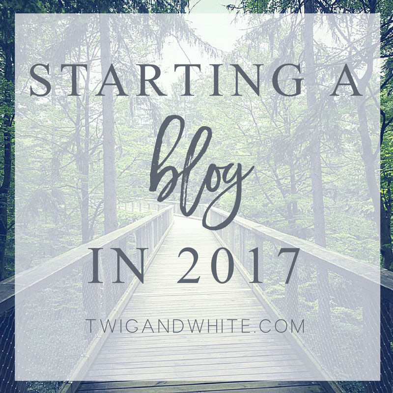 Starting a New Blog in 2017 called Twig and White.