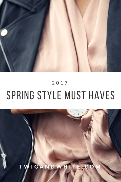 five spring style must haves