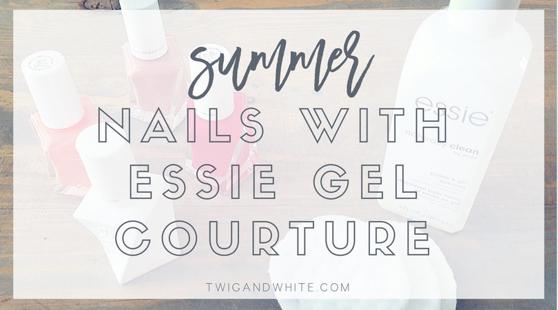 gel nails for summer with essie gel couture