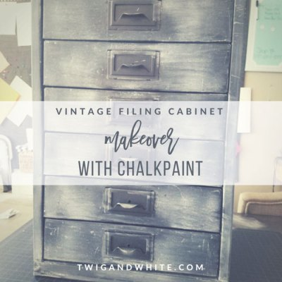 Vintage Filing Cabinet to Cool Farmhouse Modern Office Organizer