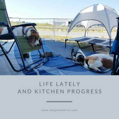 Farmhouse Kitchen Progress & Life Lately