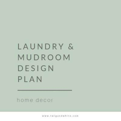 Laundry and Mudroom Design Plan
