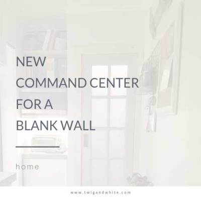 Adding Interest to a Bland Wall – New Command Center
