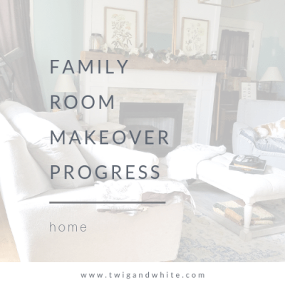 Family Room Makeover Update