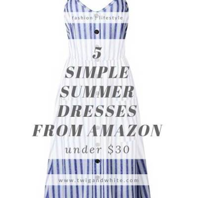 5 Simple Summer Dresses from Amazon under $30