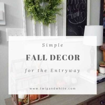 DIY Fall Entryway Decor