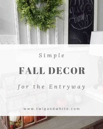 simple fall decor for the entryway