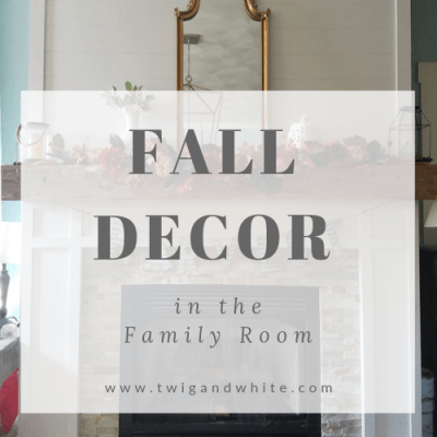 Fall Decor in the Family Room