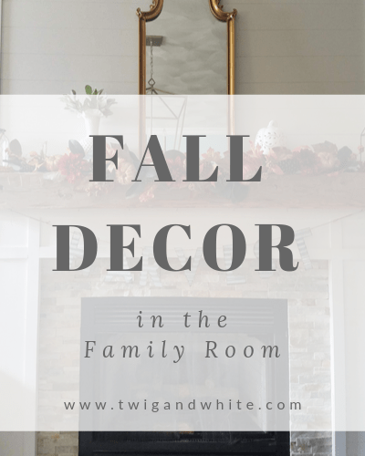 fall decor in the family room fall mantel