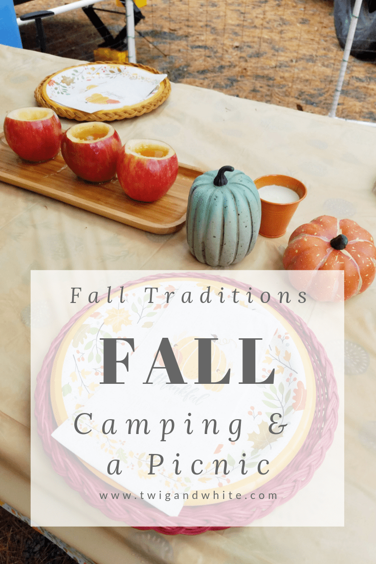 fall traditions - fall camping weekend and picnic