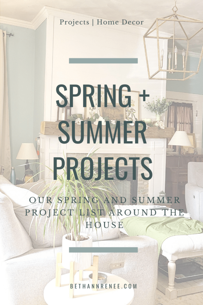 spring and summer projects around the house