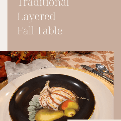 Easy Traditional Layered Fall Table