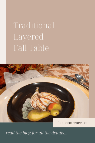 traditional layered fall table