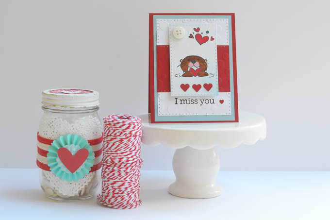 I Miss You Otter Card with Sizzix