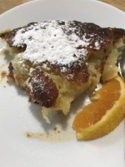 Portokalopita from the Peloponnese (Greek orange phyllo pie)