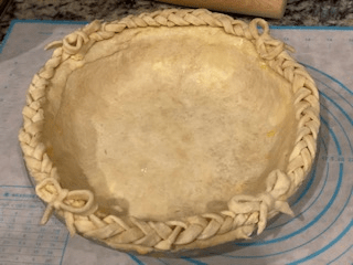 Rim Braiding with Bows before baking