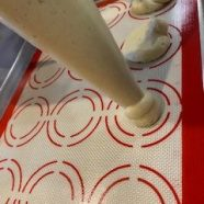 pipe onto silicone mat or parchment paper