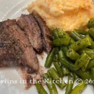 Carrot Mashed Potatoes & FLAT IRON STEAK
