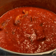 The last 20 minutes of simmering with the meatballs