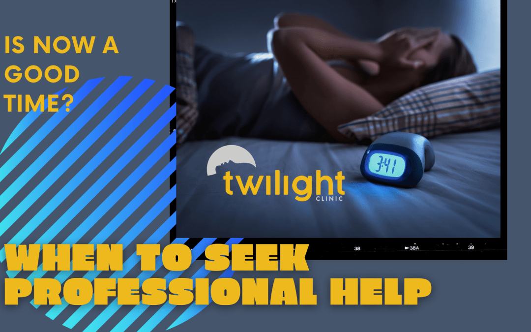 When should you seek professional help for insomnia?