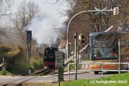 Rasender Roland und verklemmter Bus