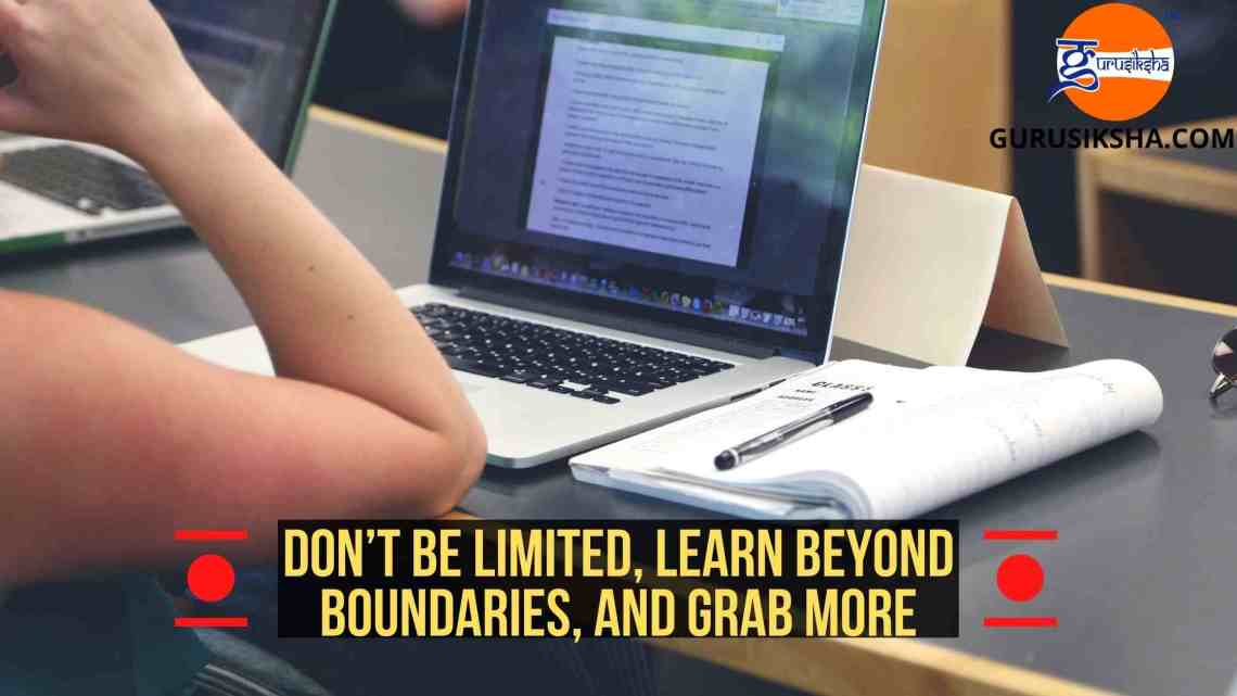 Don'T Be Limited, Learn Beyond Boundaries And Grab More