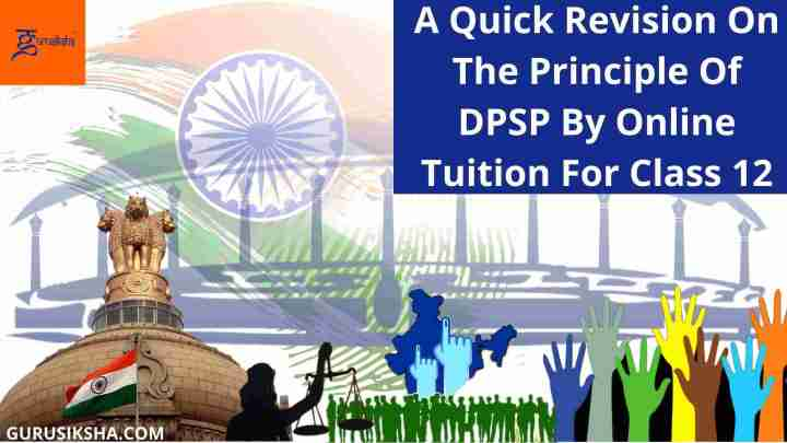A Quick Revision On The Principle Of DPSP By Online Tuition For Class 12
