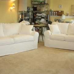 White Denim Sofa Covers Lazy Boy And Loveseat Sets Project Gallery Twill Slipcover Studio