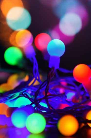 christmas lights round and bright
