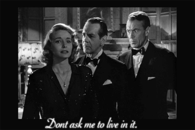 Patricia Neal, Raymond Massey and Gary Cooper