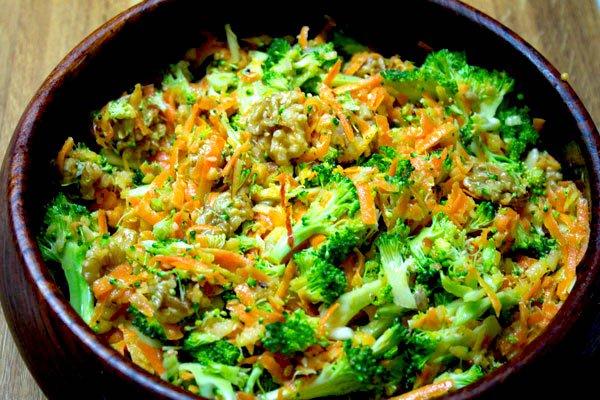 Broccoli Carrot and Apple Salad