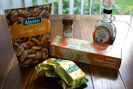 Ingredients for the gluten-free biscuit base