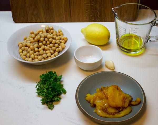 roasted yellow peper hummus ingredients