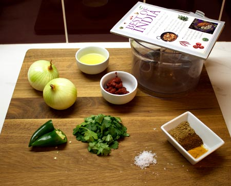ingredients for balti curry sauce