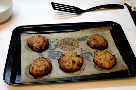 vegan cookies just out of the oven