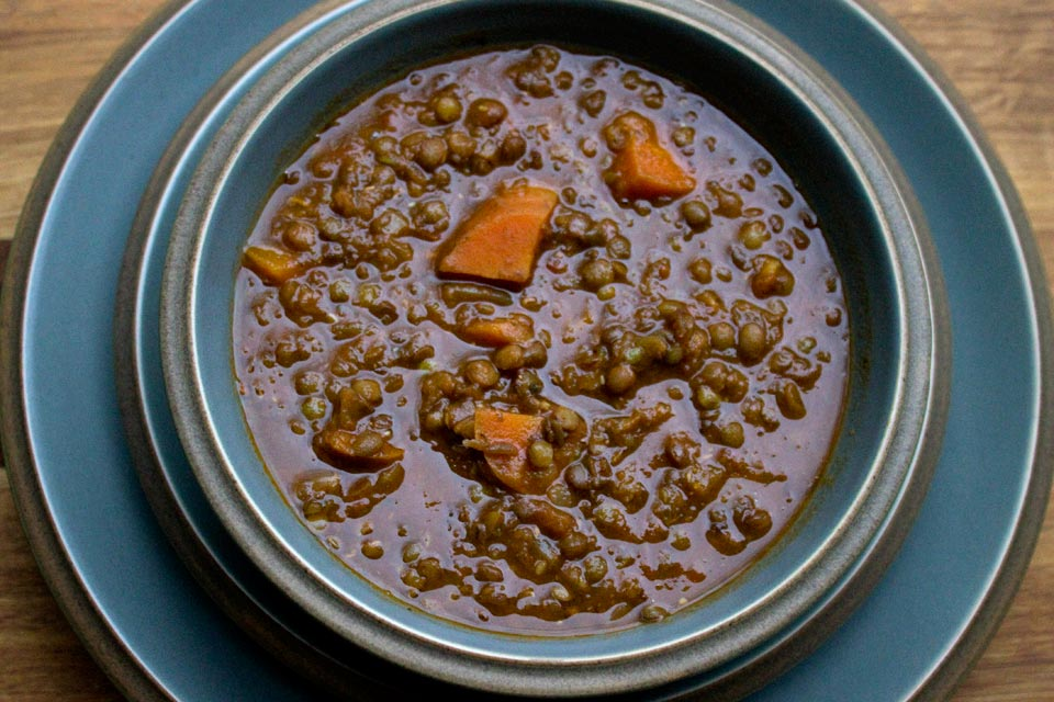 Tomato and Puy Lentil Soup