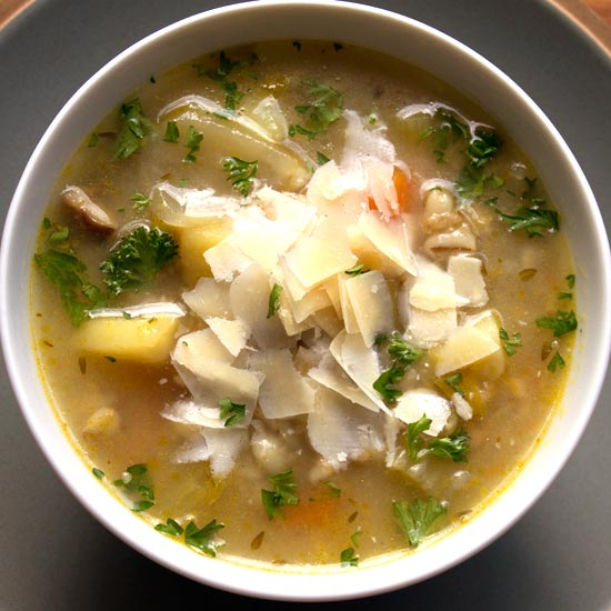 a delicious and nutritious bowl of vegetable broth.